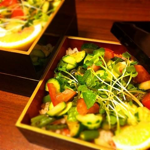 matsumoto1106さん 緑の夏野菜ちらし寿司。