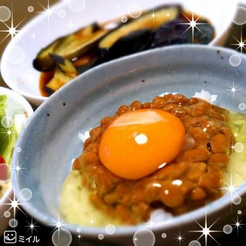 pandausagiさん 卵納豆かけご飯