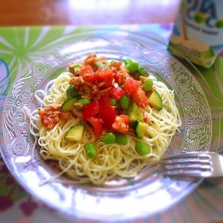 ツナと夏野菜の冷製カッペリーニ